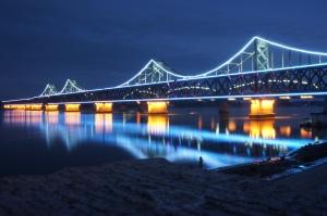 鴨綠江大橋夜景