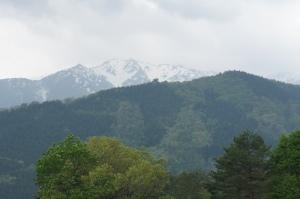 白川鄉合掌村—從荻町展望台眺望群山