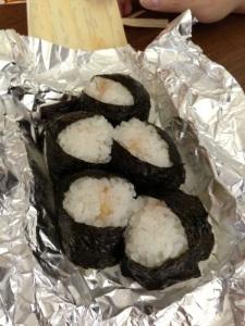 千壽的炸蝦飯團