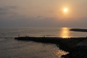 四草大橋上看日落