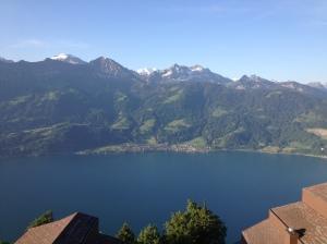 房間外望湖山景