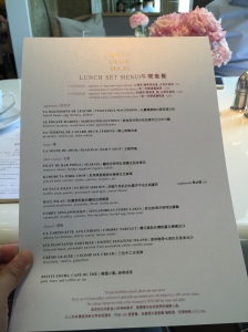 Cafe Un Deux Trois - 餐牌