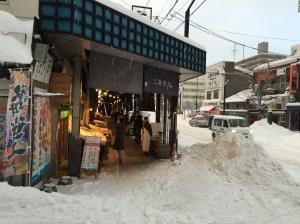 二条市場—左邊便是筆者用餐的小店