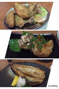 炸雞6件、雞亦精煮及燒hake魚