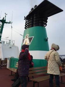 破冰船甲板