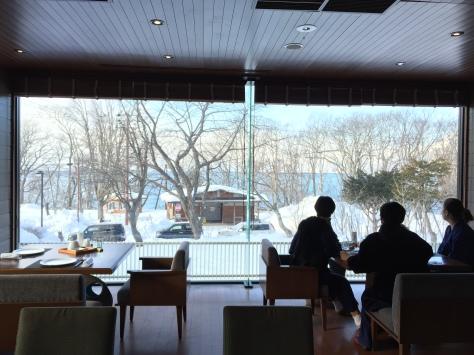 早餐餐廳窗外景色