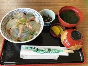 鳴門鯛魚丼